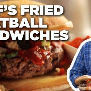 Jeff Mauro's Fried Meatball Sandwiches with Giardiniera | Sandwich King | Food Network