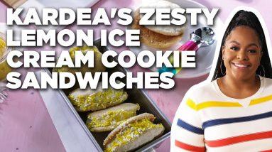 Kardea Brown's Zesty Lemon Ice Cream Cookie Sandwiches | Delicious Miss Brown | Food Network